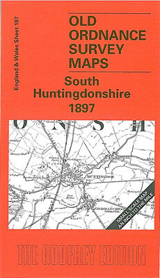 Old Ordnance Survey Map South Huntingdonshire 1897 St Ives St Neots Eaton Socon
