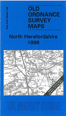 Old Ordnance Survey Map North Herefordshire 1898 Leominster Bromyard Weobley