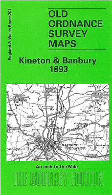 Old Ordnance Survey Map Kineton Banbury 1893 Shipton On Stour Middleton Cheney