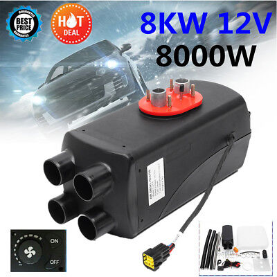 8KW 12V Air diesel Fuel Heater 4 Holes Car Bus Trucks Motor-Homes Boats