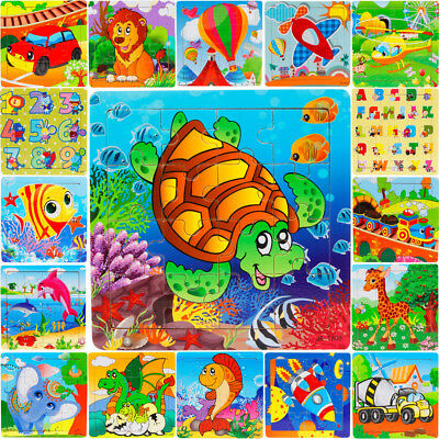 Wooden Puzzle Educational Developmental Baby Kids Training Toy Christmas Gifts