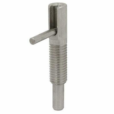 M12 Thread Stainless Steel Lock-Out Type Retractable Indexing Plunger w L Handle