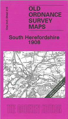 Old Ordnance Survey Map South Herefordshire 1908 Ross On Wye Abbey Dore Madley