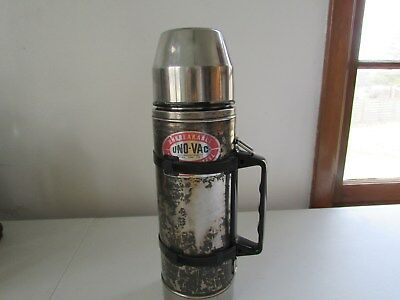 UNO-VAC 1 Qt STAINLESS STEEL UNBREAKABLE VACUUM QUART THERMOS