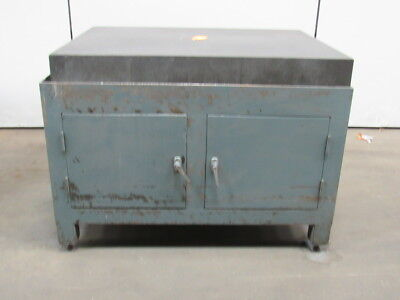 "Challenge Granite Surface Plate 48""x36""x5-1/2"" W/2 Door Stand"