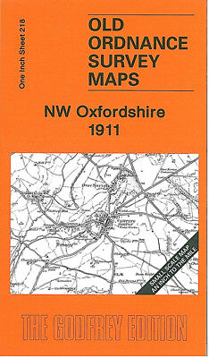 Old Ordnance Survey Map Nw Oxfordshire 1911 Chipping Norton Hook Norton Aynho