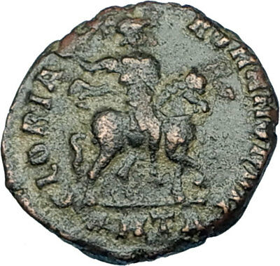 HONORIUS on Horse 392AD Original Genuine Authentic Ancient Roman Coin i65845