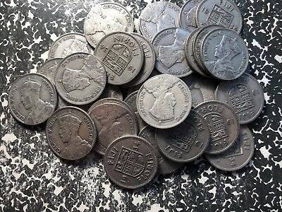 1934 Fiji 1 Florin Silver! (Many Available) Circulated (1 Coin Only) Low Mintage