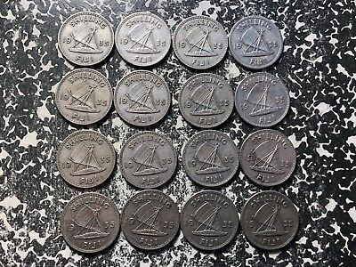 1935 Fiji 1 Shilling Silver! (16 Available) Circulated (1 Coin Only) Low Mintage