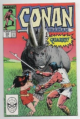Marvel Comics Conan the Barbarian #210 Copper Age