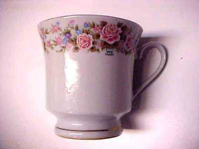 Vintage Floral Pattern Porcelain China Cup (China) Q576