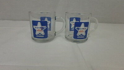 Lot of 2 Mobil Oil / Gas Advertising Glass Coffee Mug 1988 Dealer Convention