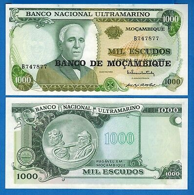 Mozambique P-119 1000 Escudos Year ND 1972 Uncirculated Banknote Africa