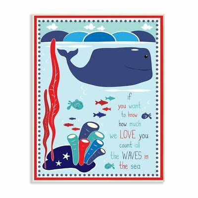 Stupell Whale in the Ocean Graphic Art Wall Plaque