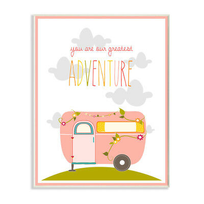 Stupell You Are Our Greatest Adventure Pink and Grey Art Wall Plaque