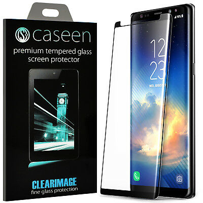 caseen Samsung Note 8 9 / S8 / S9 Plus 3D Curved Screen Protector Tempered Glass