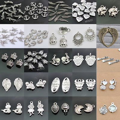 10pcs Tibetan Silver Alloy Charms Pendants Jewelry Finding More Choice