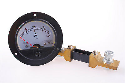 Brand New DC 200A 65C5 Free Shipping AMP Analog Ammeter + Shunt