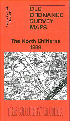 Old Ordnance Survey Map The North Chilterns 1888 Aylesbury Berkhamsted Tring