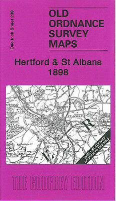 Old Ordnance Survey Map Hertford St Albans 1898 Hatfield Potters Bar Ware Welwyn