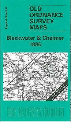 Old Ordnance Survey Map Blackwater & Chelmer 1886 Chelmsford Witham Maldon