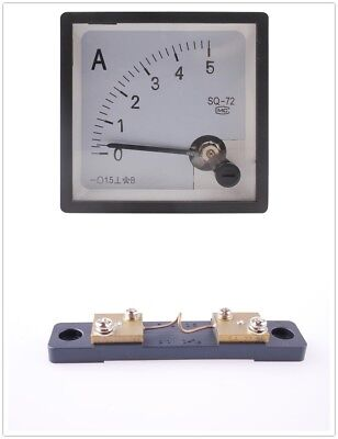 SQ-72 Analog Free Shipping AMP Panel Meter DC 5A Brand  New 1pcs with Shunt