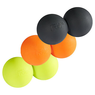 Mirafit Double/Peanut Lacrosse Massage Ball Myofascial Muscle Relief/Release