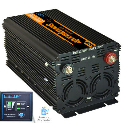 Convertisseur 2000Watt 24V 220V 230V Onduleur Transformateur de Tension DC to AC