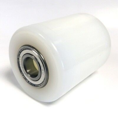 White Nylon D82 x 100mm hand pallet truck load roller/ wheel inc D20mm bearings