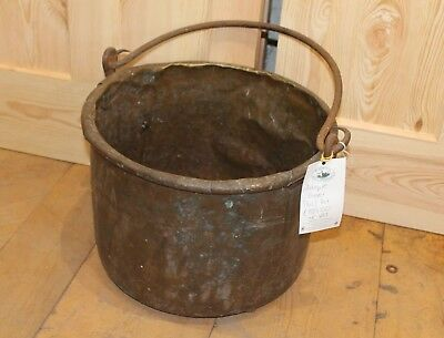 Reclaimed Original Period Antique Copper Pail Pot Log Store  Warwick Reclamation