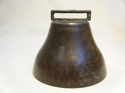 """Antique Primitive Hand Forged Round Cow Bell 5"""" Diameter"""