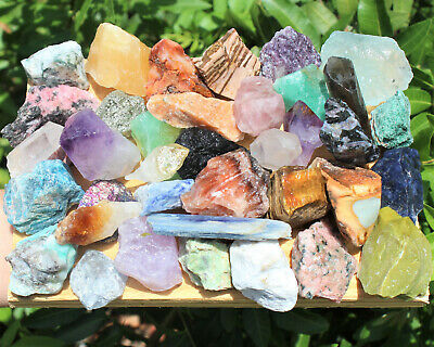 Bulk Crafters 1 lb Mix Natural Gems Crystals Raw Mineral Specimens Rocks 16 oz