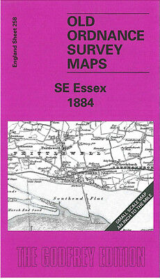 Old Ordnance Survey Map Se Essex Basildon Rayleigh Southend Wickford 1884