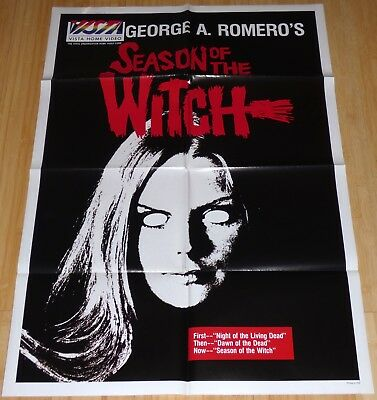SEASON OF THE WITCH 1980s ORIGINAL VHS HOME VIDEO MOVIE POSTER GEORGE A. ROMERO