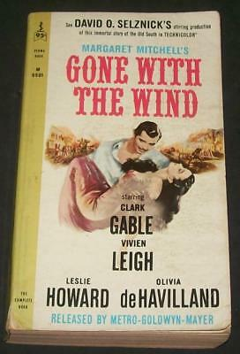 Gone with the Wind Margaret Mitchell 1963 Perma Bk M9501 Clark Gable Movie Tie i