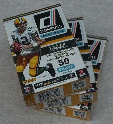 Panini 2016 Nfl Donruss Football Hanger Box Red Parallels Lot Of 3 New & Sealed