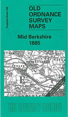 Old Ordnance Survey Map Mid Berkshire Reading Tilehurst Wokingham Caversham 1885