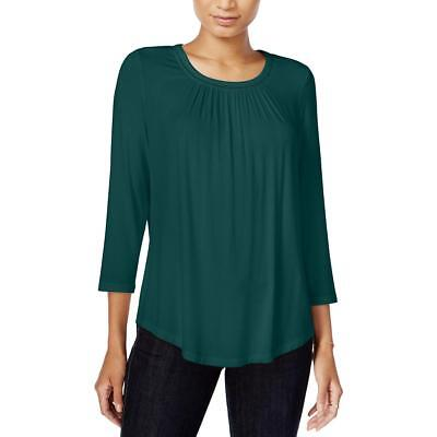 Maison Jules Womens Hi Low 3/4 Sleeves Stretch Casual Top BHFO 9529