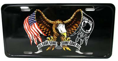 All Gave Some Some Gave All Eagle Flag POW MIA Auto Car Truck Tag License Plate