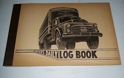 1962 truck Driver's Daily log book unused/ SN line