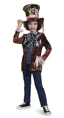 Disney Alice in Wonderland Looking Glass Mad Hatter Deluxe Child Costume S M L