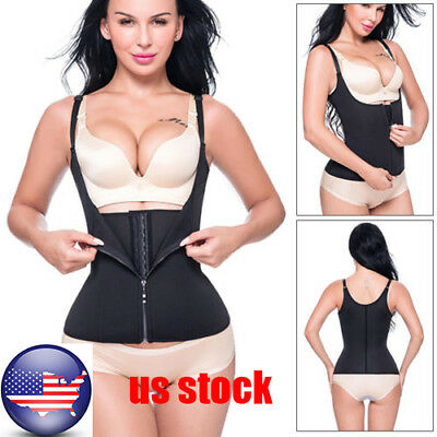 US Stock Women Waist Training Cincher Slimming Corset Body Shaper Shapewear Vest