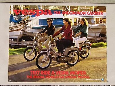 1980 VESPA Moped Adverstising Poster: The Uncommon Carrier