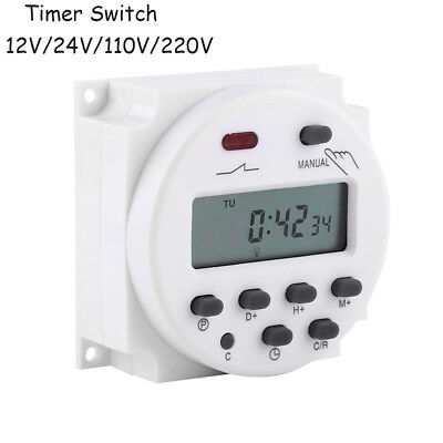 CN101A 24V-220V LCD Digital Weekly Programmable Power Timer Time Relay Switch EE