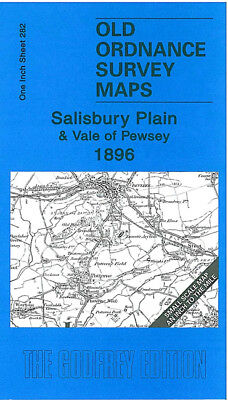 Old Ordnance Survey Map Salisbury Plain Vale Of Pewsey 1896 Devizes Bulford