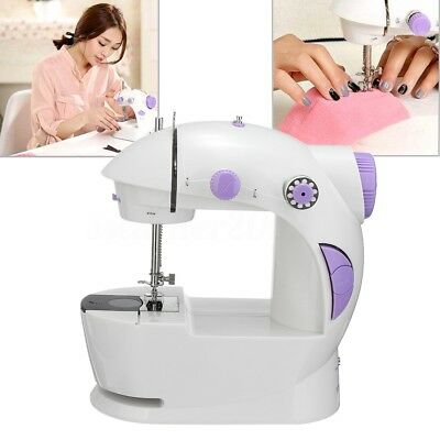 Portable Multifunction Mini Electric House Desktop Sewing Machine Double Speed