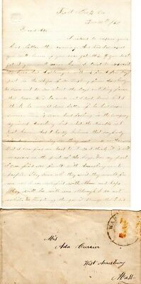1863, George W. Clark, died at Andersonville Prison, Mass. 1st Artillery, letter