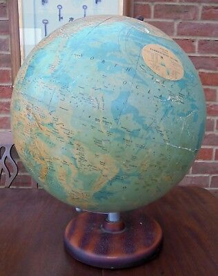 """Philips 19"""" Terrestrial Globe 1976 on Stand"""