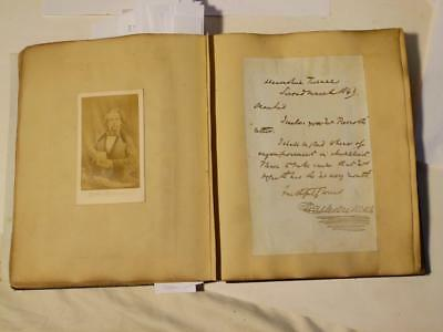 18thC 2nd Duke Wellington Personal Autograph CDV Royalty Album Charles Dickens