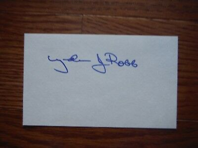 LYNDA BIRD JOHNSON Robb Autographed Index Card Hand Signed LBJ Daughter